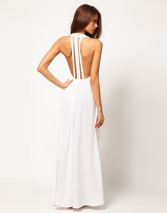 ASOS Collection Asos Maxi Dress with Triple Strap Back Detail - Lyst