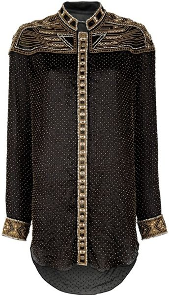 Balmain Embroidered Tunic in Black - Lyst