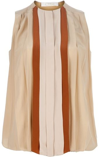 Chloé Pleated Blouse - Lyst