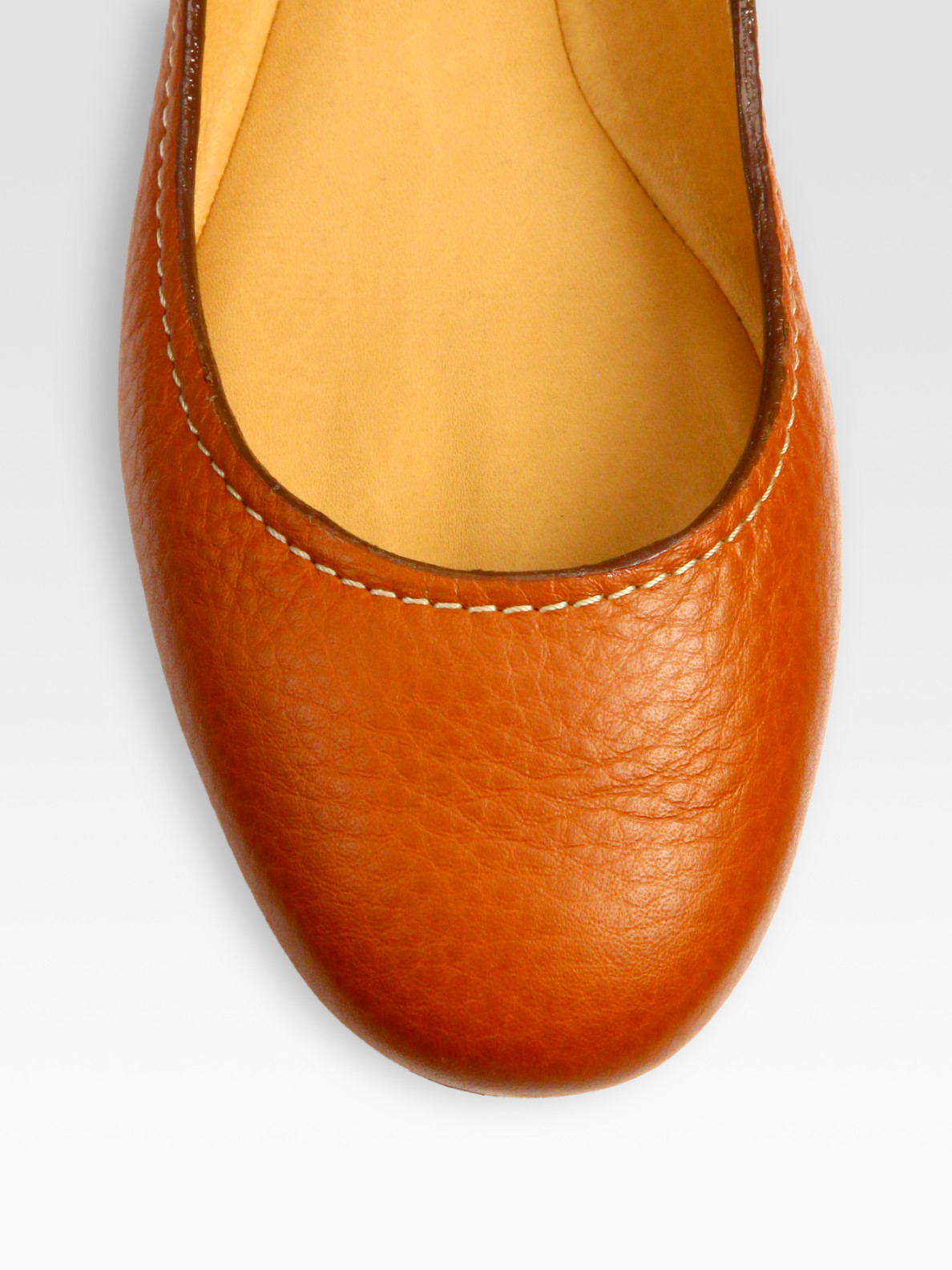 944c3fbf9f5 Lyst - Chloé Leather Ballet Flats in Brown