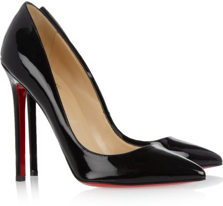 Christian Louboutin Pigalle 100 Patentleather Pumps in Black - Lyst