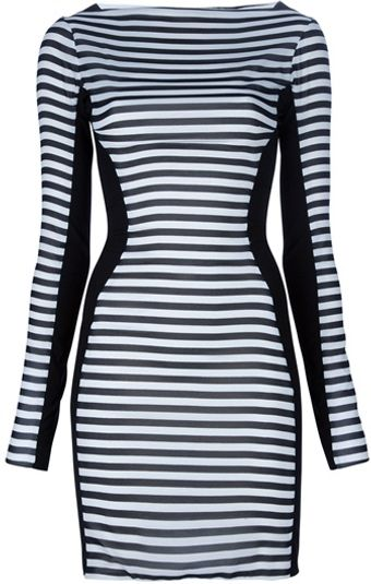 Gareth Pugh Silk Striped Dress - Lyst