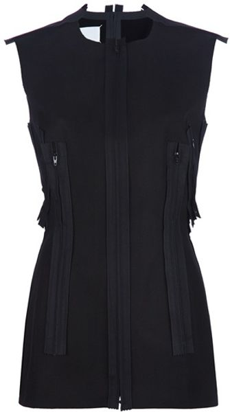 Maison Martin Margiela Sleeveless Top in Black - Lyst