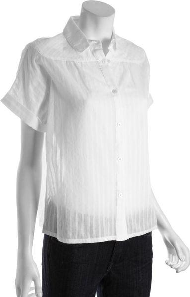 White short sleeve peter pan collar blouse long sleeved for White cotton shirt peter pan collar