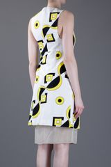 Marni Print Dress in White - Lyst