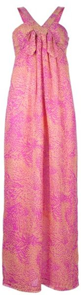 Mw Matthew Williamson Maxi Dress in Pink - Lyst