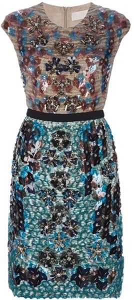 Peter Pilotto Beatrice Dress in Blue - Lyst