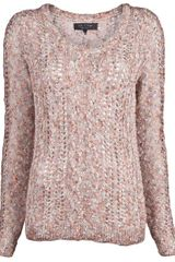 Rag & Bone Greta Sweater in Pink (multi) - Lyst