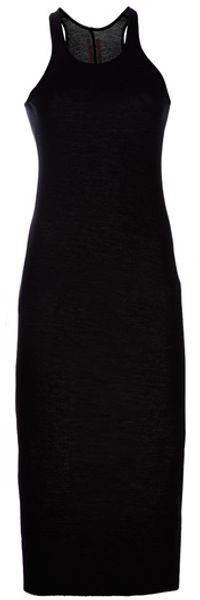 Rick Owens Fitted Maxi Dress in Black - Lyst