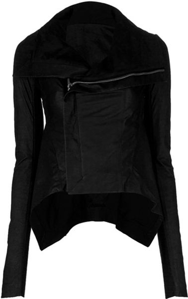 Rick Owens Peplum Jacket in Black - Lyst