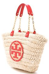 Tory Burch Audrey Tote in Beige (natural) - Lyst
