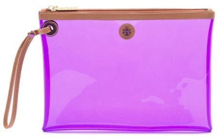Tory Burch Jesse Swimsuit Pouch in Purple - Lyst