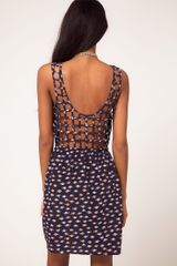 ASOS Collection Asos Dress in Conversational Print with Back Detail - Lyst