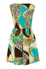 Ax Paris Ax Paris Chain Print Sleeveless Dress - Lyst