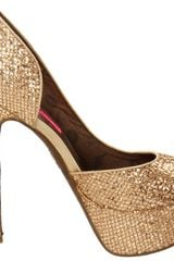 Betsey Johnson Snackss Pump in Gold (gold multi) - Lyst