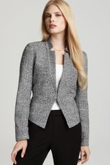 Calvin Klein Tweed Stand Notch Collar Jacket - Lyst