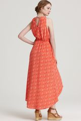 Cynthia Steffe High Low Dress Landa in Orange (hibiscus) - Lyst