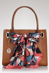 DKNY Tote Work Shopper with Scarf - Lyst
