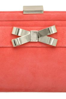 Dune Brandies Metal Bow Trim Clutch - Lyst