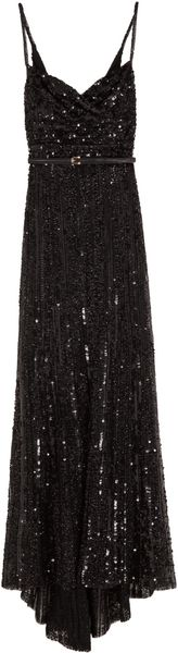 Elie Saab Full Sequin Thin Strap Gown - Lyst