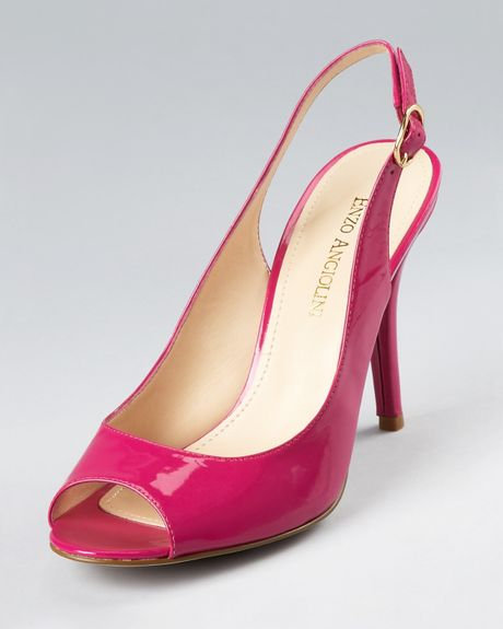 enzo angiolini pumps mykell slingback in pink pink