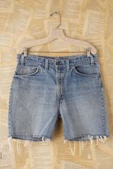 Free People Vintage Denim Cutoffs - Lyst