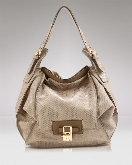 Hobo Kooba Embossed Snake Valerie in Brown (embossed snake taupe)