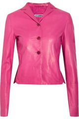 Jil Sander Leather Jacket - Lyst
