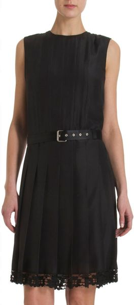 Marc Jacobs Lace Bottom Dress - Lyst