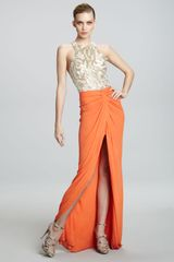 Naeem Khan Embroidered-bodice Combo Gown - Lyst