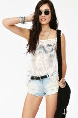Nasty Gal Oracle Crochet Tank in White - Lyst