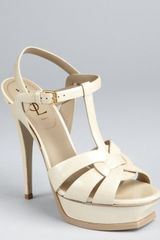 Yves Saint Laurent Corda Patent Leather Muse 105 Strappy Platform Sandals - Lyst