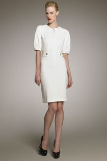 Yves Saint Laurent Puff-sleeve Dress - Lyst