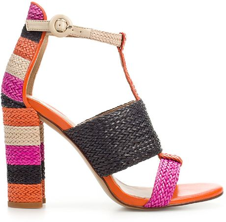 Zara Woven Thong Sandal in Multicolor (two-tone) - Lyst