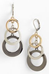 Ak Anne Klein Circle Link Drop Earrings - Lyst