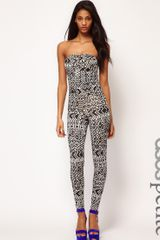 ASOS Collection Asos Petite Exclusive Unitard in Aztec Print - Lyst