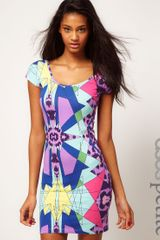 ASOS Collection Asos Petite Bodycon Dress in Kaleidoscope Print - Lyst