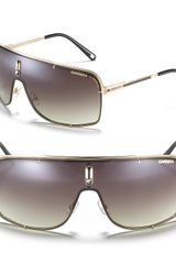 Carrera Square Aviator Shield Sunglasses - Lyst