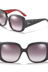 Dior Oversized Round Sunglasses with Logo On Temple - Lyst