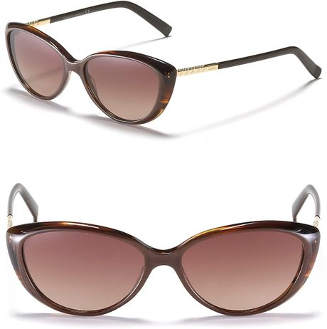 Dior Small Cat Eye Sunglasses in Brown (brown horn) - Lyst