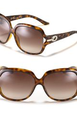 Dior Round Oversized Open Temple Sunglasses - Lyst