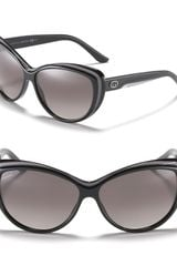 Gucci Grey and Black Fade Cat Eye Sunglasses - Lyst