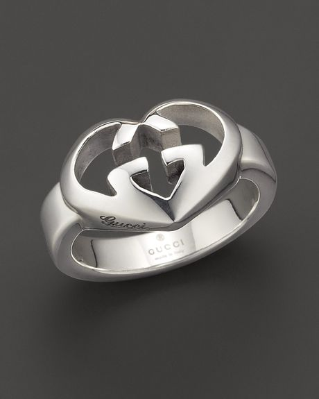 gucci sterling silver engraved gg ring in silver no