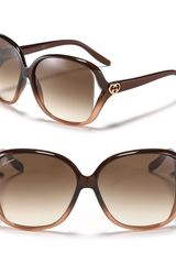 Gucci Oversized Square Frame Sunglasses with Open Sides - Lyst