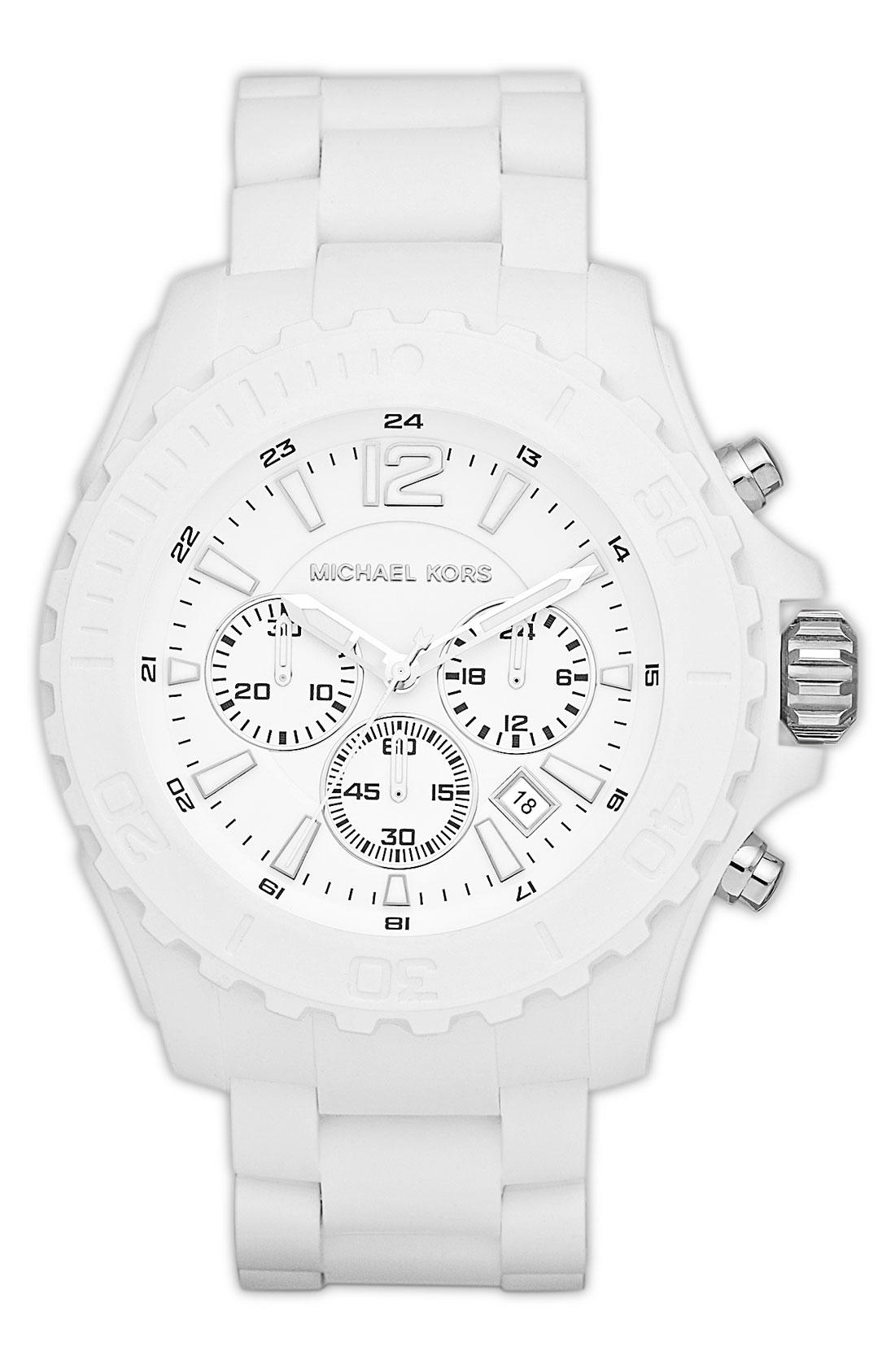 michael michael kors michael kors drake chronograph silicone watch gallery previously at nordstrom · men s michael kors