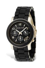 Michael Kors Black Rubber Strap Chronograph Watch 39 Mm - Lyst