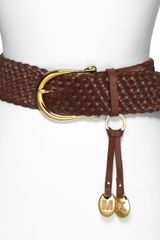 Michael Kors Michael Braided Leather Belt - Lyst