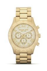 Michael Kors Round Gold Watch 45mm - Lyst