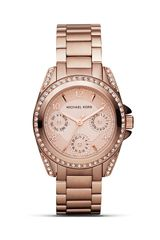 Michael Kors Michael Round Rose Gold Glitz Sport Watch 33 Mm - Lyst