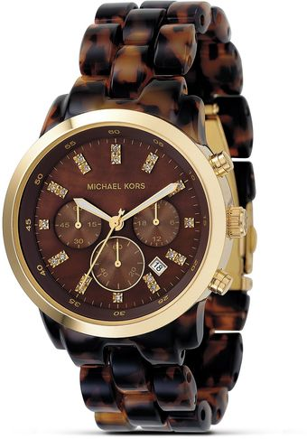 Michael Kors Michael Tortoise Chronograph Bracelet Watch 40 Mm - Lyst